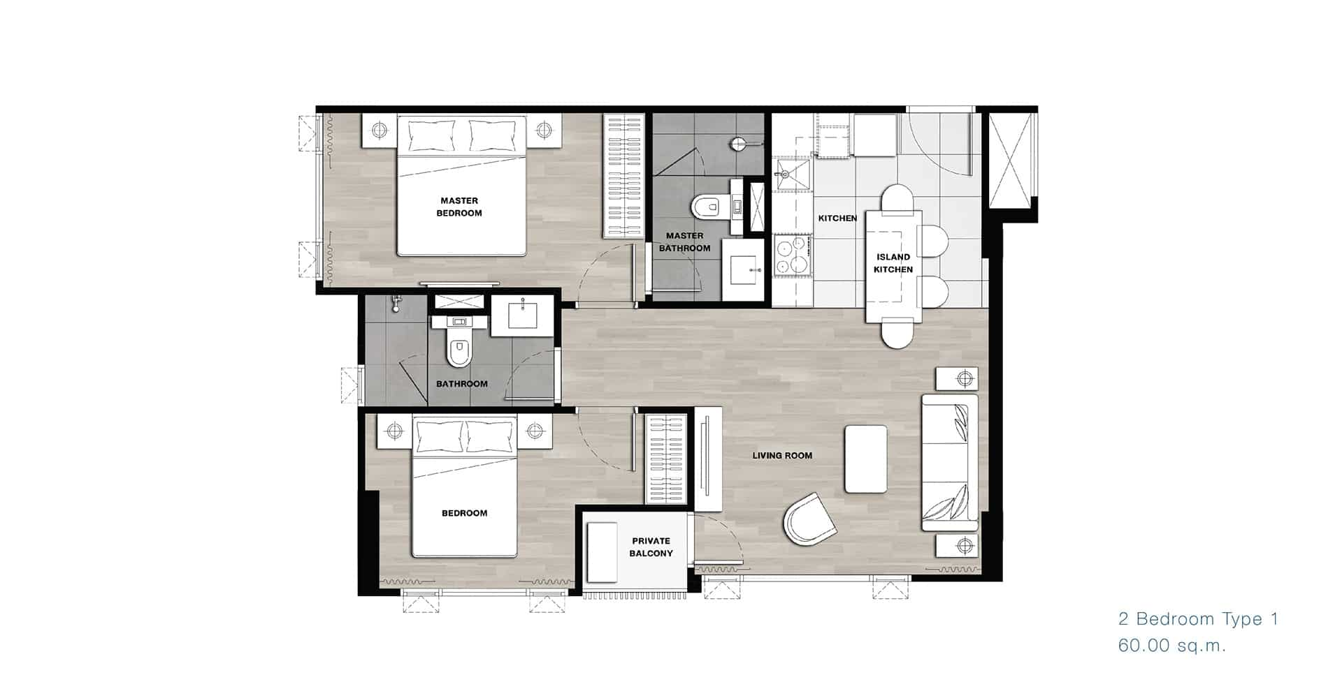 2 bedroom - (Kara ari - rama 6)